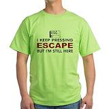 Computer Green T-Shirt