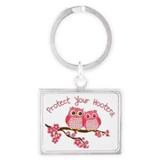 Protect Your Hooters Landscape Keychain