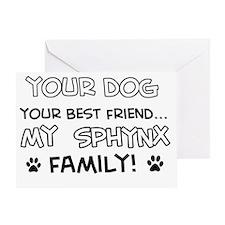 Sphynx Cat designs Greeting Card