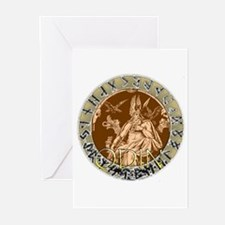 Odin god of hunting Greeting Cards (Pk of 10)
