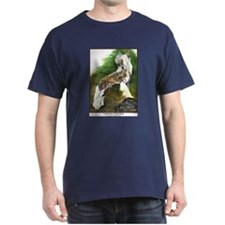 Chinese Crested Painting Dark Colored T-Shirt