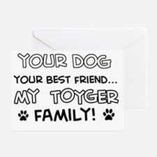 Toyger cat breed designs Greeting Card