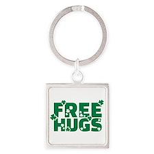 Free hugs shamrock Square Keychain