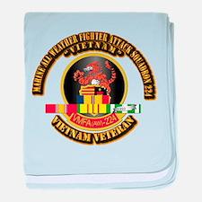 USMC - VMFA(AW) - 224 w VN SVC Ribbon baby blanket