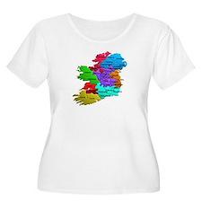 Counties of Ireland Plus Sz Scoop Neck T-Shirt