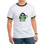 Love Earth Penguin Ringer T