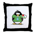 Love Earth Penguin Throw Pillow