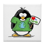 Love Earth Penguin Tile Coaster