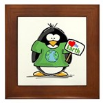 Love Earth Penguin Framed Tile