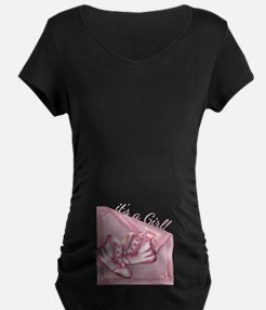 Baby Girl Old Fashioned Vintage Booties T-Shirt