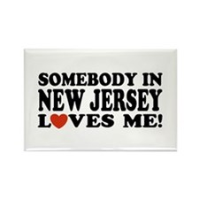 Somebody in New Jersey Loves Rectangle Magnet