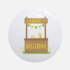 Lemonade Welcome Ornament (Round)