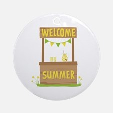 Welcome Summer Ornament (Round)