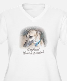 SPIRIT IN THE WIND WOMENS PLUS SIZE WHITE V NECK T