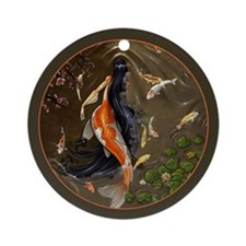 Koi Mermaid Ornament (Round)