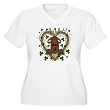 Irish Reindeer Plus Size V-Neck T-Shirt