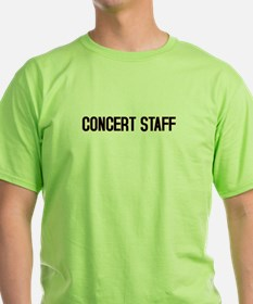 T-Shirt CONCERT STAFF On Front and Back