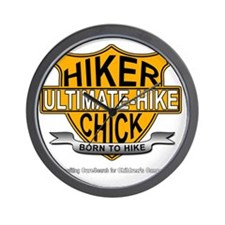 Hiker Chick-HD Wall Clock