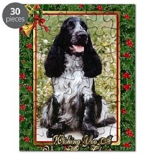English Cocker Spaniel Dog Christmas Puzzle