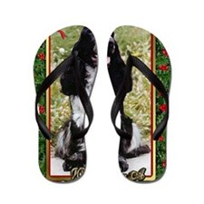 English Cocker Spaniel Dog Christmas Flip Flops