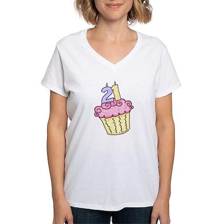 21st Birthday Women's V-Neck T-Shirt