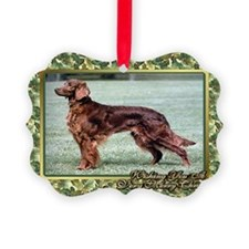 Irish Setter Dog Christmas Ornament