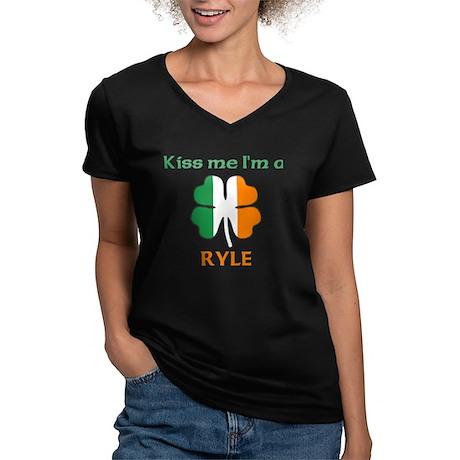 Ryle Family Women's V-Neck Dark T-Shirt