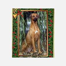 Rhodesian Ridgeback Dog Christmas Throw Blanket
