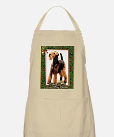 Airedale Terrier Dog Christmas Apron