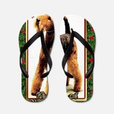 Airedale Terrier Dog Christmas Flip Flops