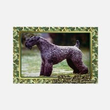 Kerry Blue Terrier Dog Christmas Rectangle Magnet