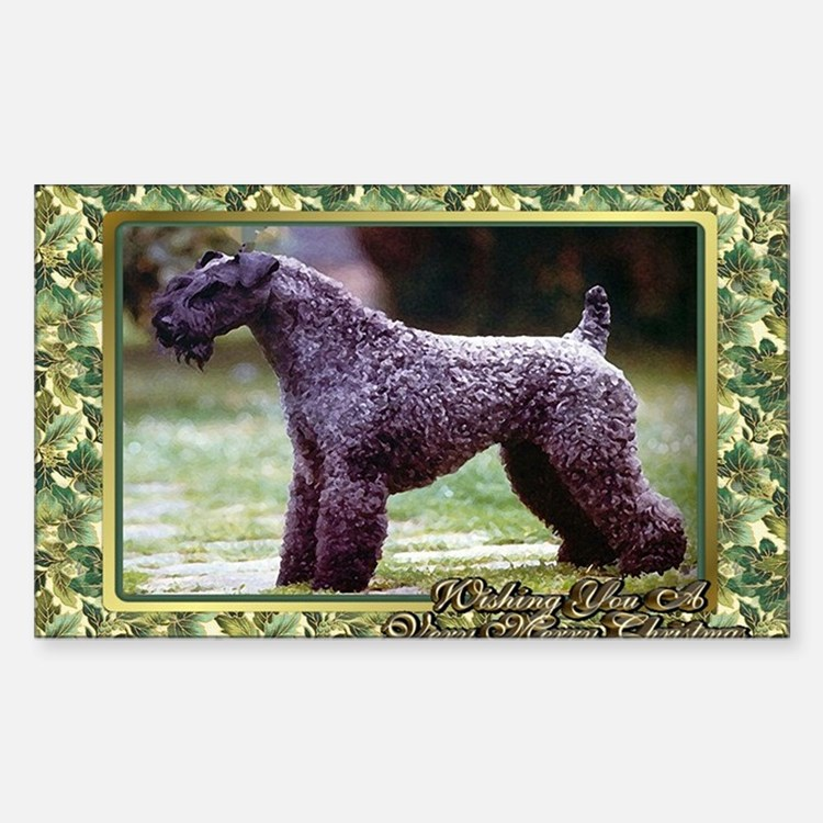 Kerry Blue Terrier Dog Christm Decal