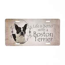 Lifes Better Boston Aluminum License Plate