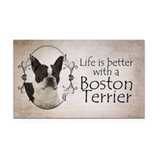 Lifes Better Boston Rectangle Car Magnet