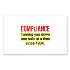 Compliance Turn Down Rectangle Decal