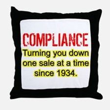 Compliance Turn Down Throw Pillow