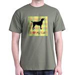 plaid love my lab Dark T-Shirt