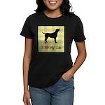 plaid love my lab Women's Dark T-Shirt