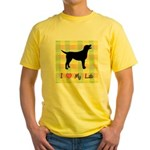 plaid love my lab Yellow T-Shirt