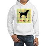 plaid love my lab Hooded Sweatshirt