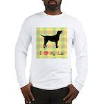 plaid love my lab Long Sleeve T-Shirt