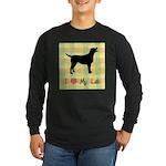plaid love my lab Long Sleeve Dark T-Shirt