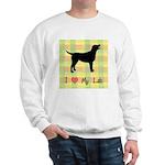 plaid love my lab Sweatshirt