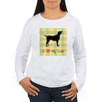 plaid love my lab Women's Long Sleeve T-Shirt