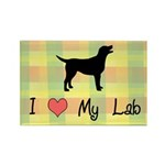 plaid love my lab Rectangle Magnet (10 pack)