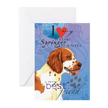 Welsh Springer Spaniel Greeting Cards (Pk of 10)