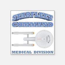 "Starfleet Medical Division Square Sticker 3"" x 3"""