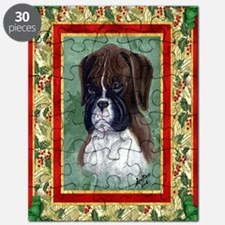 Boxer Puppy Dog Christmas Puzzle
