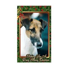 Smooth Fox Terrier Dog Christm Decal