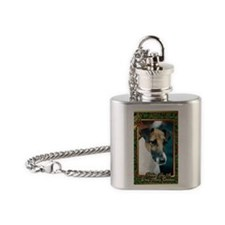 Smooth Fox Terrier Dog Christmas Flask Necklace